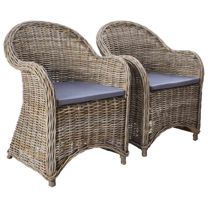poltroncine in rattan