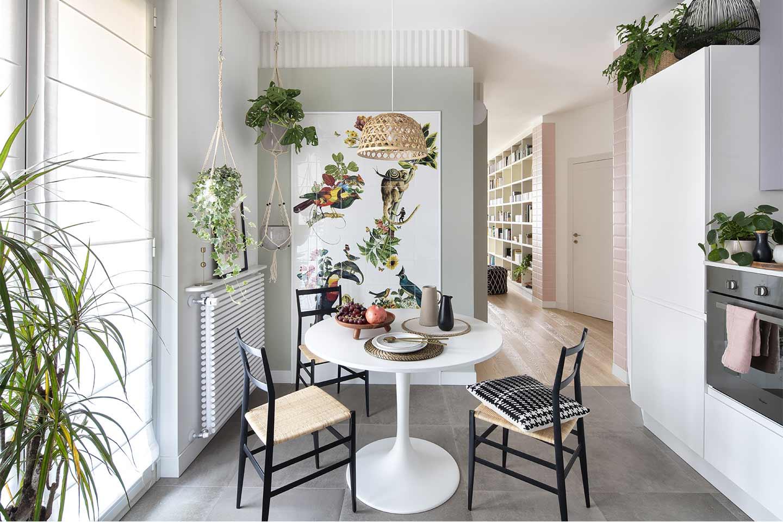 appartamento rinnovato dallo studio Paradisiartificiali