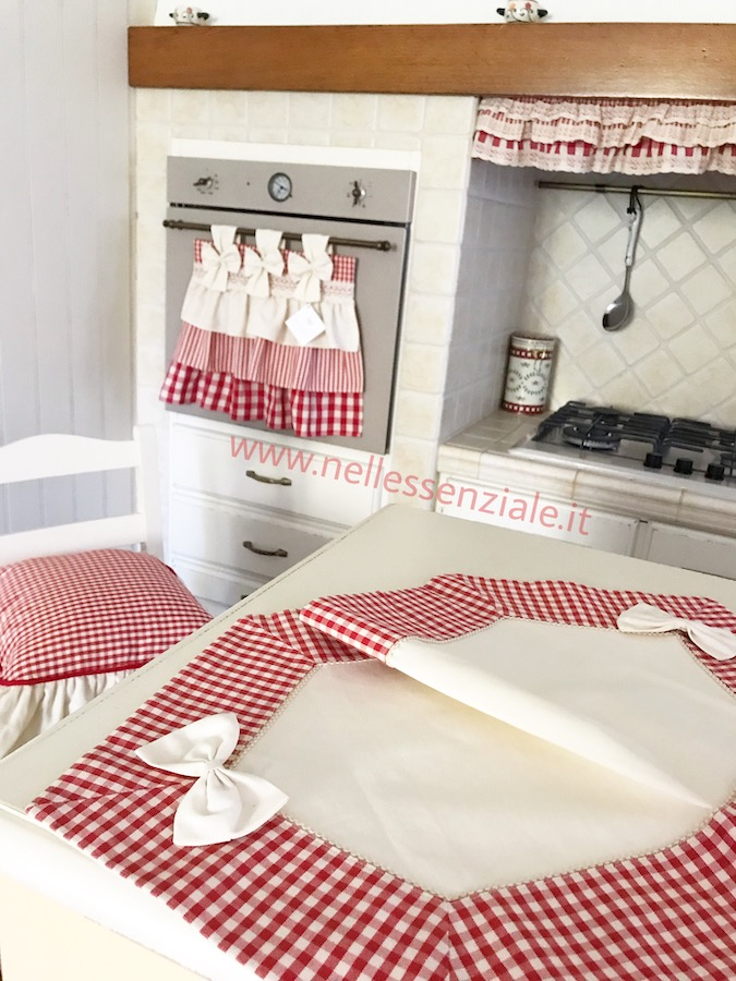 coordinato country chic rosso country