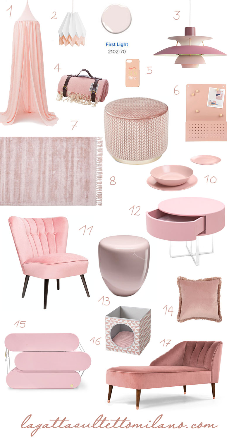 mood board rosa tendenze 2020