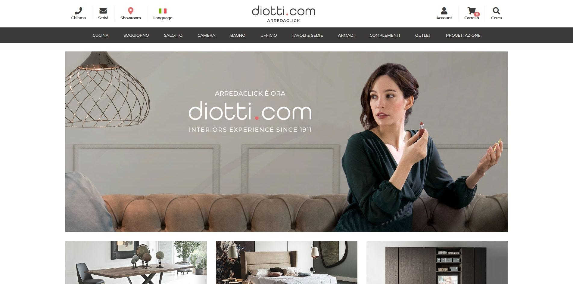 diotti.com arredamenti personalizzati e su misura