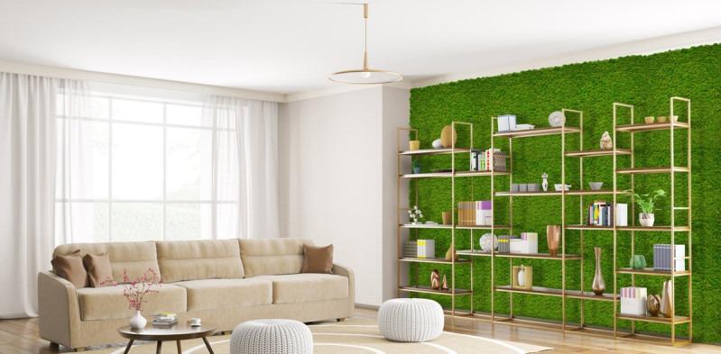Casa con arredamento ecologico