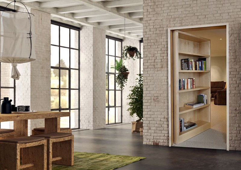porta nascosta da libreria