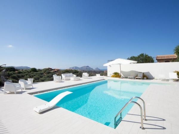 piscina moderna con trampolino