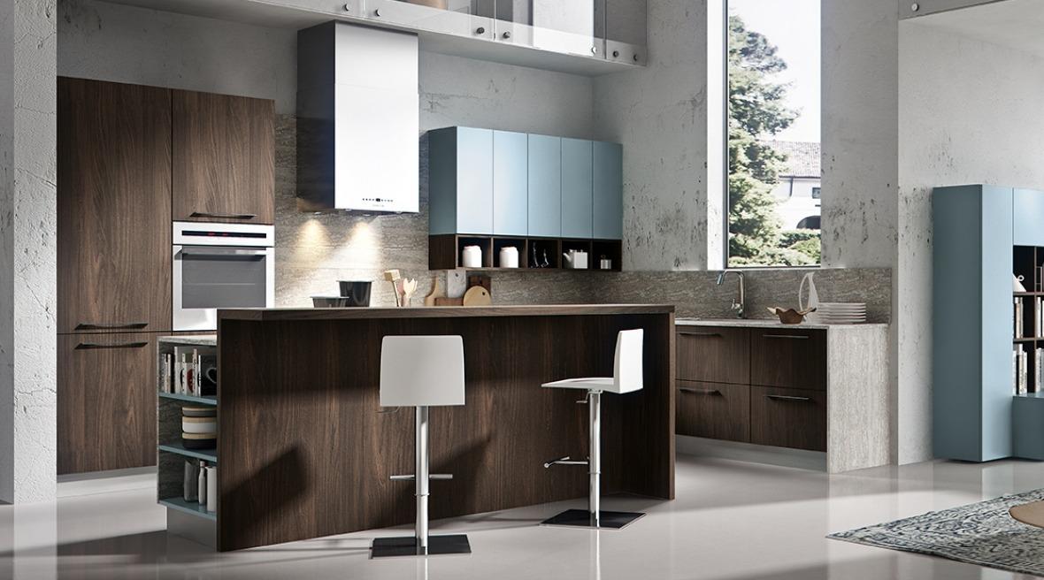 Cucine moderne con isola in legno
