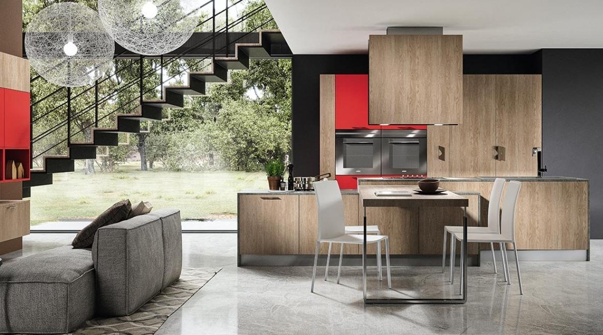 Cucine legno chiaro moderne