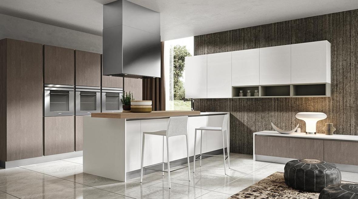 Cucine moderne acciaio e legno