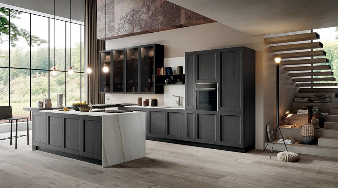 Cucine moderne in legno grigio