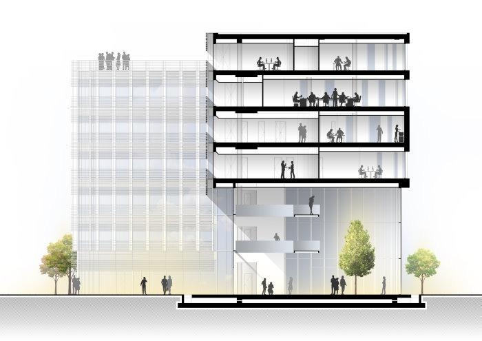 Progetto centro direzionale Umberto Forti