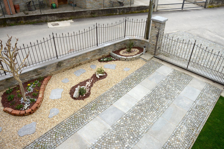 Pavimenti per esterni con sampietrini